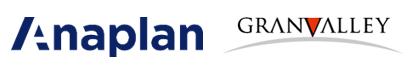Anaplan と Granvalley のロゴ