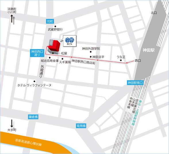 BCN アカデミールーム地図